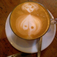Drawing on coffee