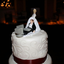 Geek wedding cake