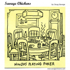 Ninjas Playing Poker
