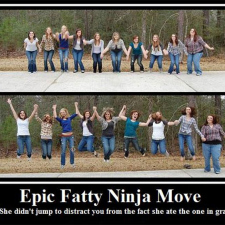 Epic Fatty Ninja Move
