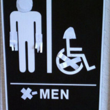 Epic Men's Toilet Sign