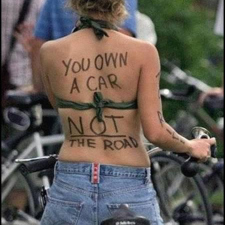 You own your car protest sign