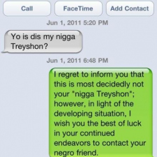 Yo is dis my nigga Treyshon?