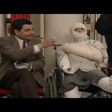 Rowan Atkinson - Queue jumping in hospital