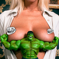 Hulk loves boobs