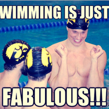 Swimming is fabulous!
