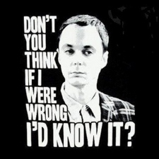 Sheldon Cooper being wrong?