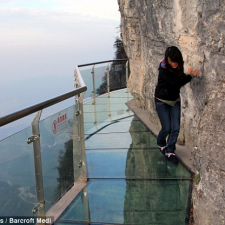 Glass walkway from your worst fears