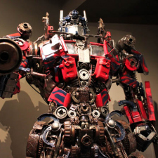 Transformers made from recycled car parts