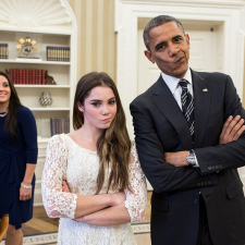 Kayla Maroney - Did I just do the 'Not impressed' face with the President... Yes