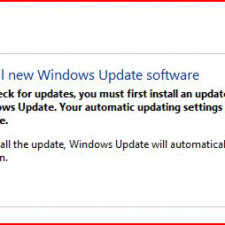 Another clear Update message from Windows