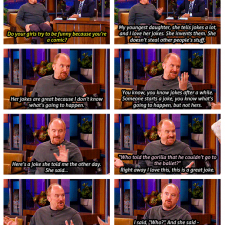 Louis CK on the Tonight Show. July, 2012