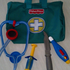 3-year old doctor bag - Close enough