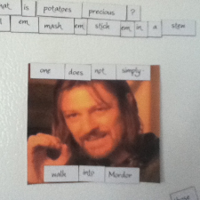 Lord of The Rings refrigerator magnets