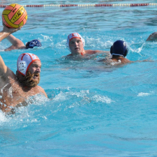 Poseidon playing water polo
