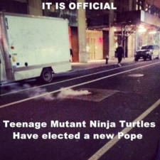 Teenage Mutant Ninja Turtles have pope