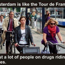 Amsterdam is no different than the Tour de France