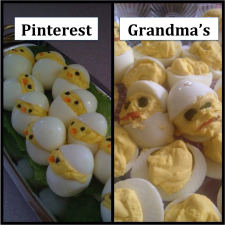 Grandma -vs- Pinterest: Deviled Eggs Edition