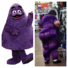 Ran into Grimace at Walmart today