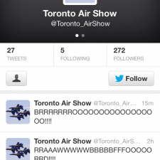 The Toronto Air show twitter Brooooooos!!
