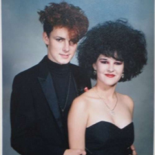 High school prom photo from the 80's