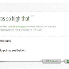 I was so high that...