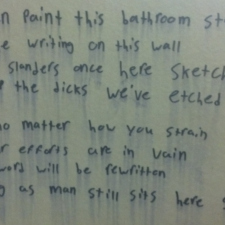 Stall graffiti poem