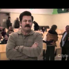 Parks And Recreation - Ron Swanson on Government and Bacon
