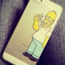 Homer Simpson eating Apple iPhone case