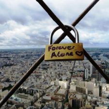 Forever Alone at Eiffel Tower
