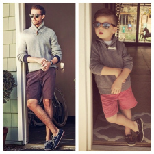 A mother dresses up her 4 year old son like a male fashion model [7 pics]