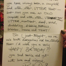 Rik Mayall wrote a wonderful birthday card for a fan. RIP.
