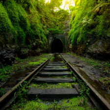 Abandoned railway in Australia