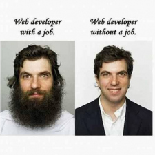 Web developer with and without a job
