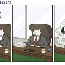 Business Cat doing Cat Business [10 strips]
