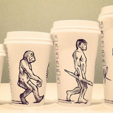 Cartoonist draws on his coffee cup every morning [11 photos]