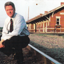 This could be Bill Clinton's first album cover
