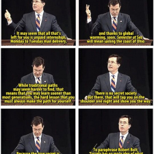 Steven Colbert advice to the new generation