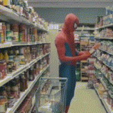 It was a normal day at the supermarket when...