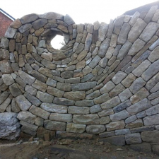 Awesome spiral stone wall
