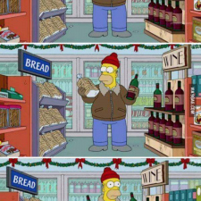 The Simpsons - New years' eve preparation