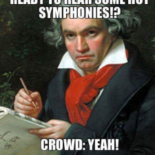 Beethoven before a concert