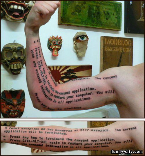 <p>I really can't see any reason why someone wanted this on his arm.</p>