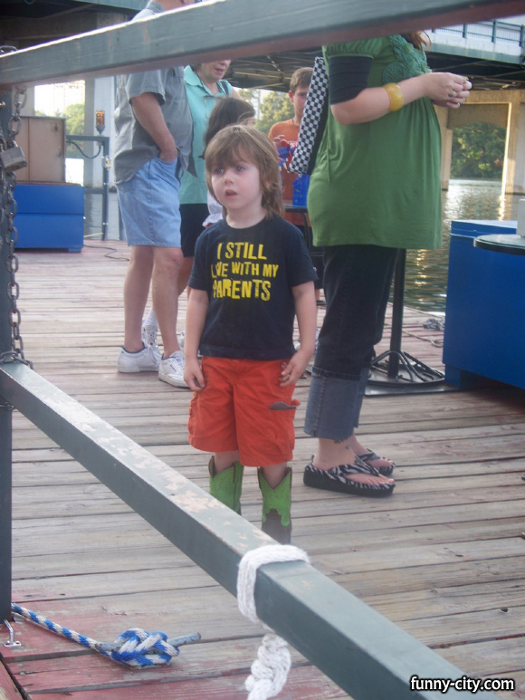 <p>This kid has style! He is so cute!</p>